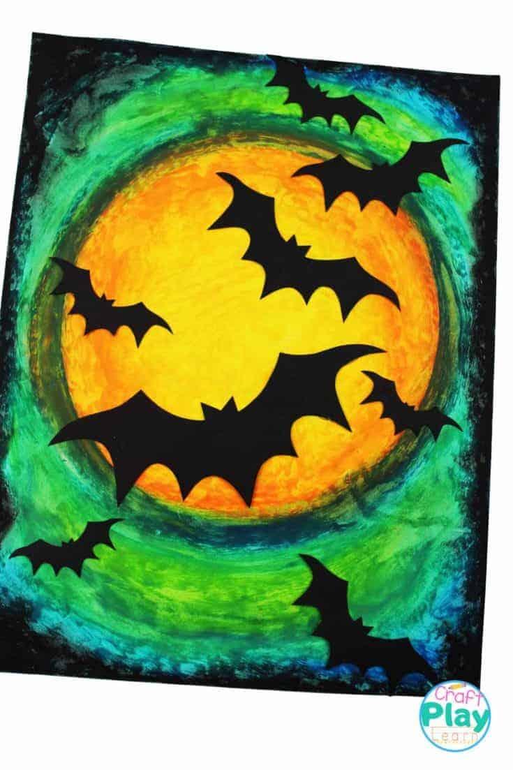 halloween bat art project