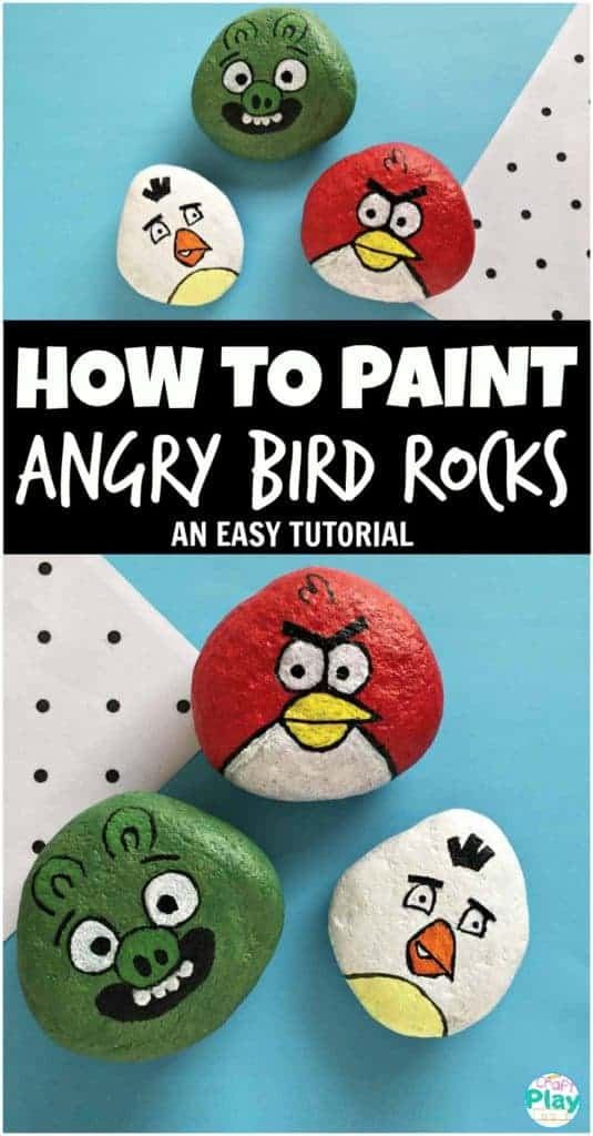 angry birds painted rocks