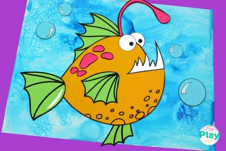 making an angelfish art project