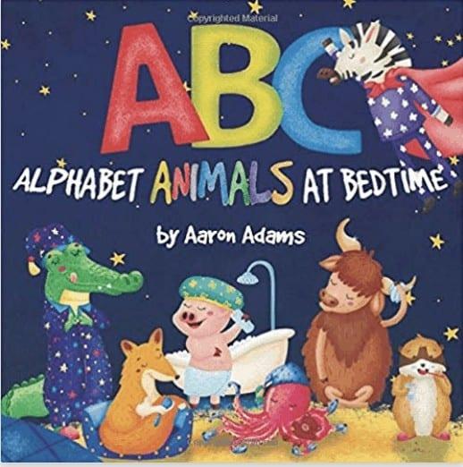 alphabet animals at bedtime