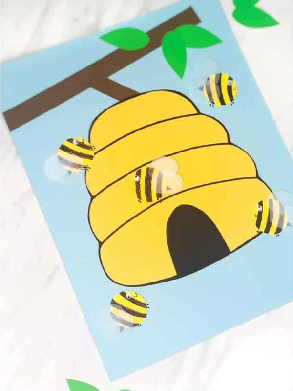 bee and hive paper craft