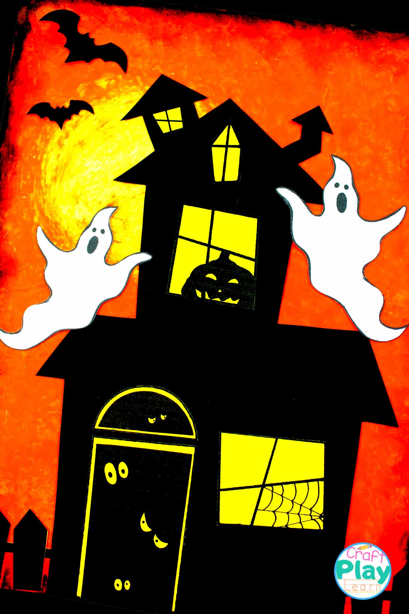 haunted house art project supplies and paint