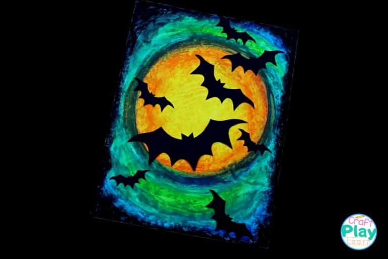 halloween bat art project