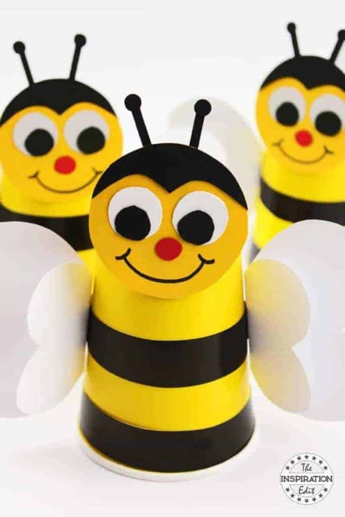 cup bumble bee craft