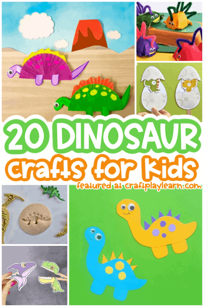 20 dinosaur crafts for kids