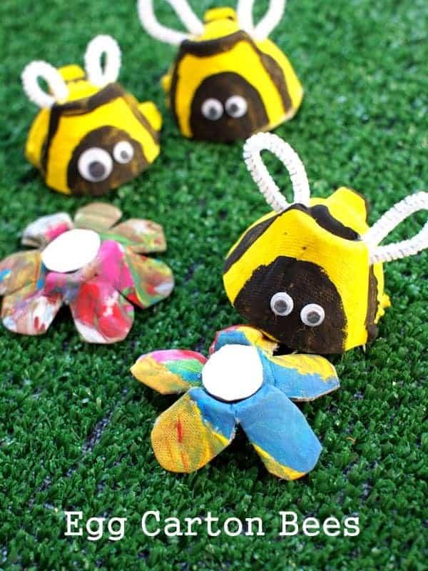 egg carton bees