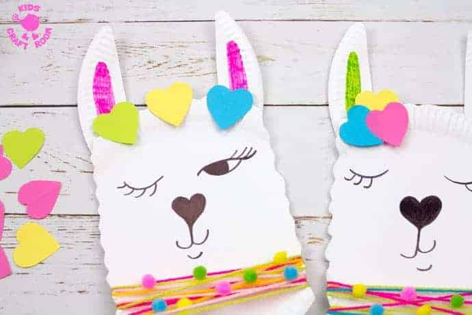 paper plate llama craft for kids