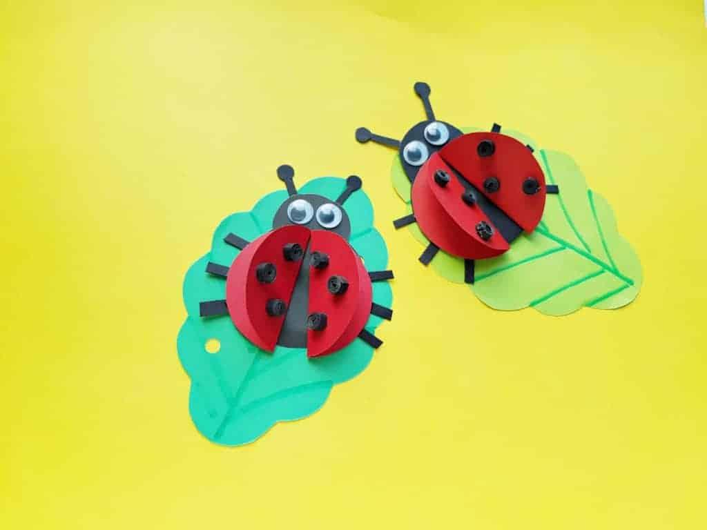 ladybug paper craft