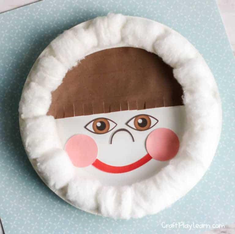 paper plate eskimo