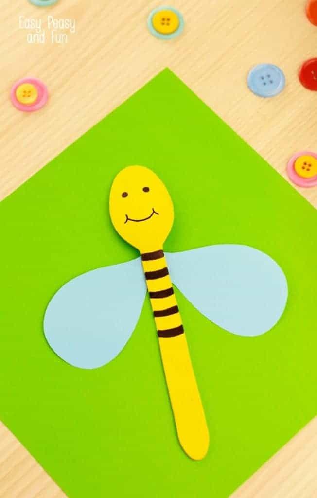 wooden spoon bee craft