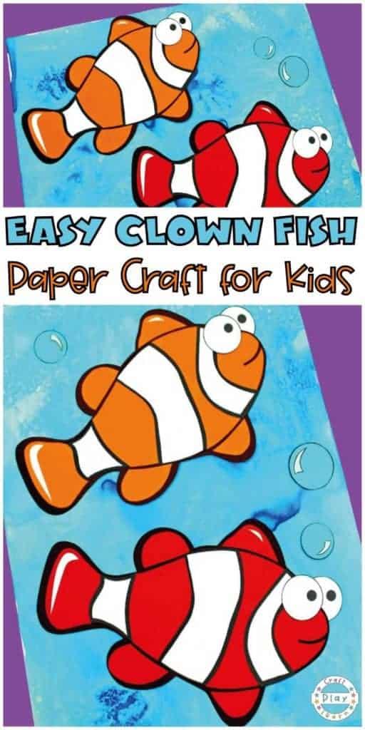 clown fish craft for kids