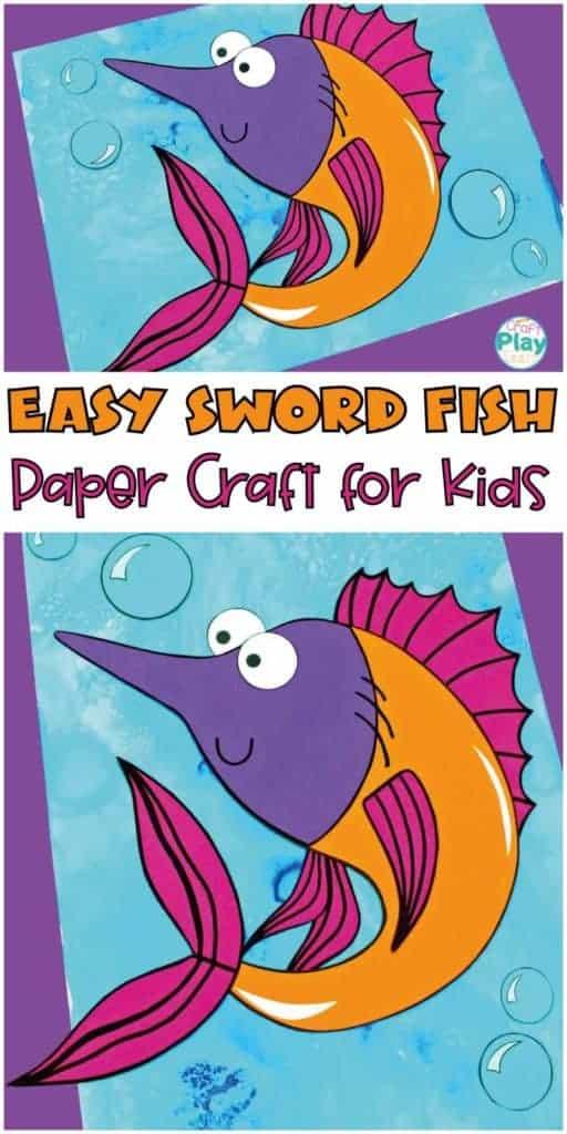 sword fish craft for kids