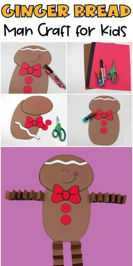 Ginger-Bread-Man craft for kids with free template