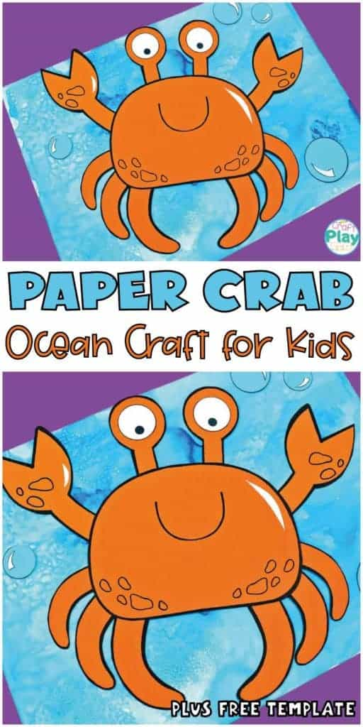 paper crab craft for kids with free template