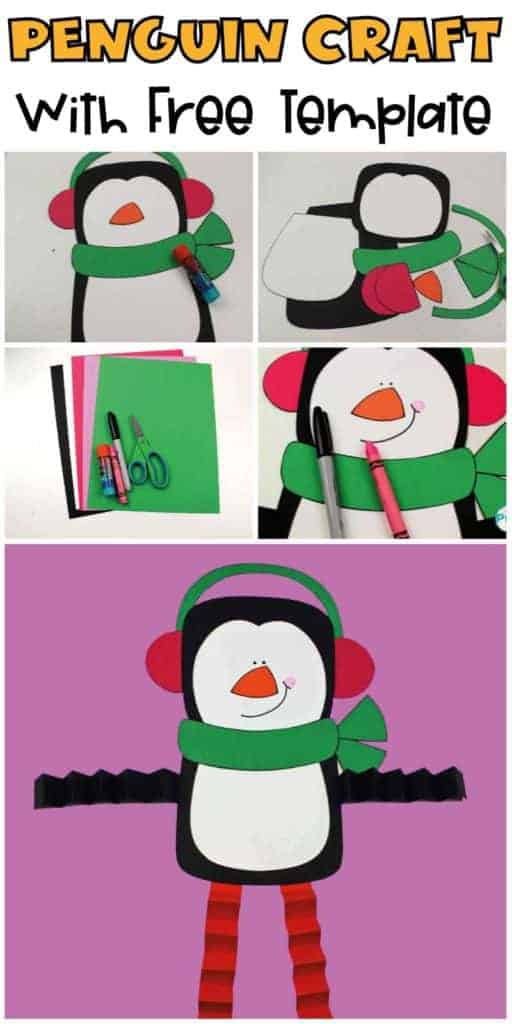 Penguin-Craft for kids with free template