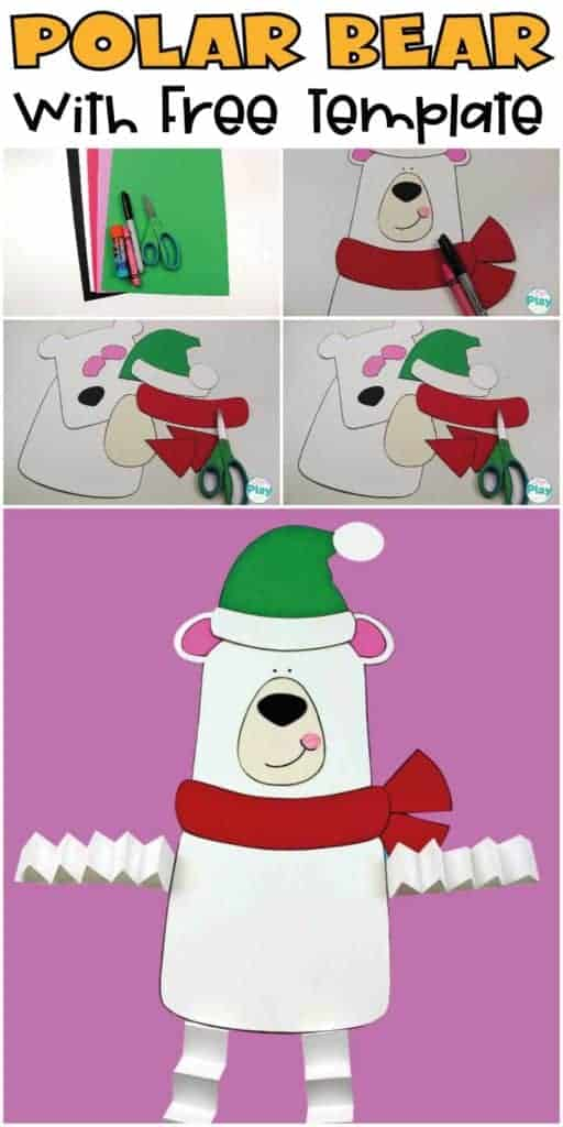 Polar-Bear Craft for kids with free template