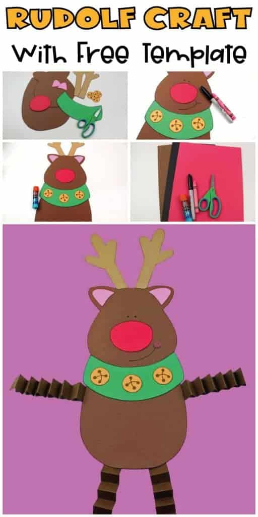 Rudolf Craft for kids with free template