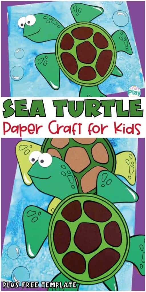 sea turtle craft for kids with free template