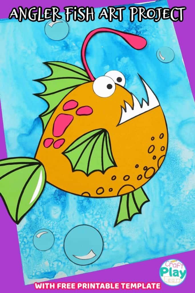 angler fish art project