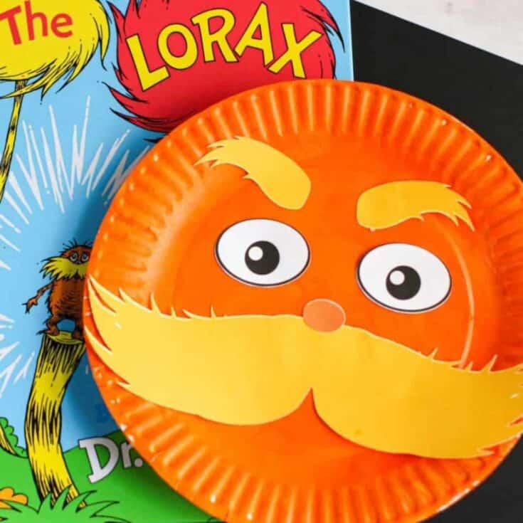 dr seuss craft the lorax paper plate craft