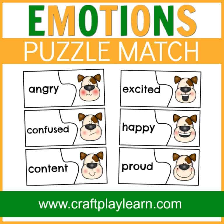 teach kids about emotions with this dog emotions page