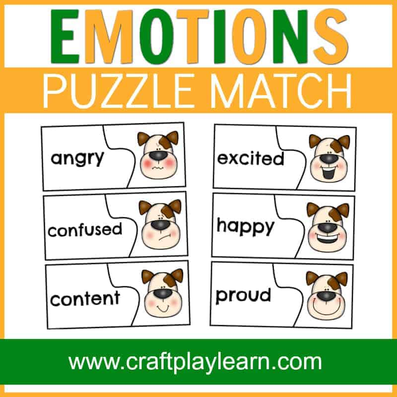 teach kids about emotions with this dog emotions page:  If You're Happy And You Know It