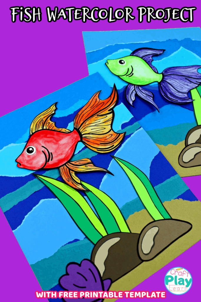 fish watercolor project