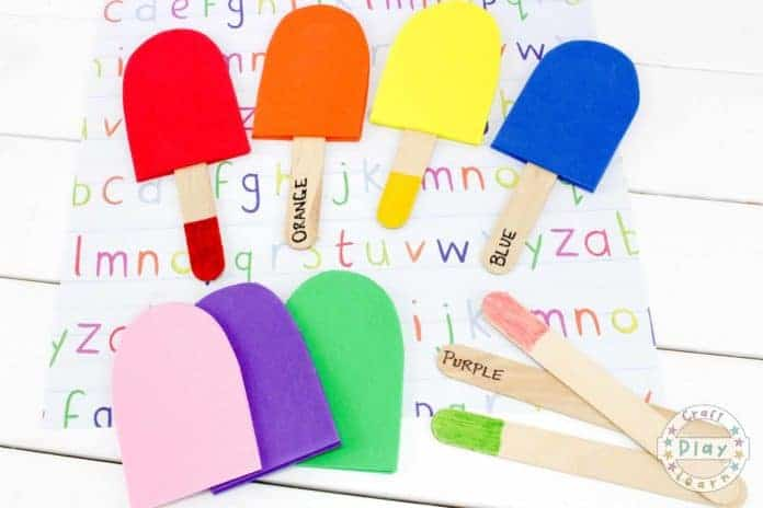 supplies for kids color matching activity