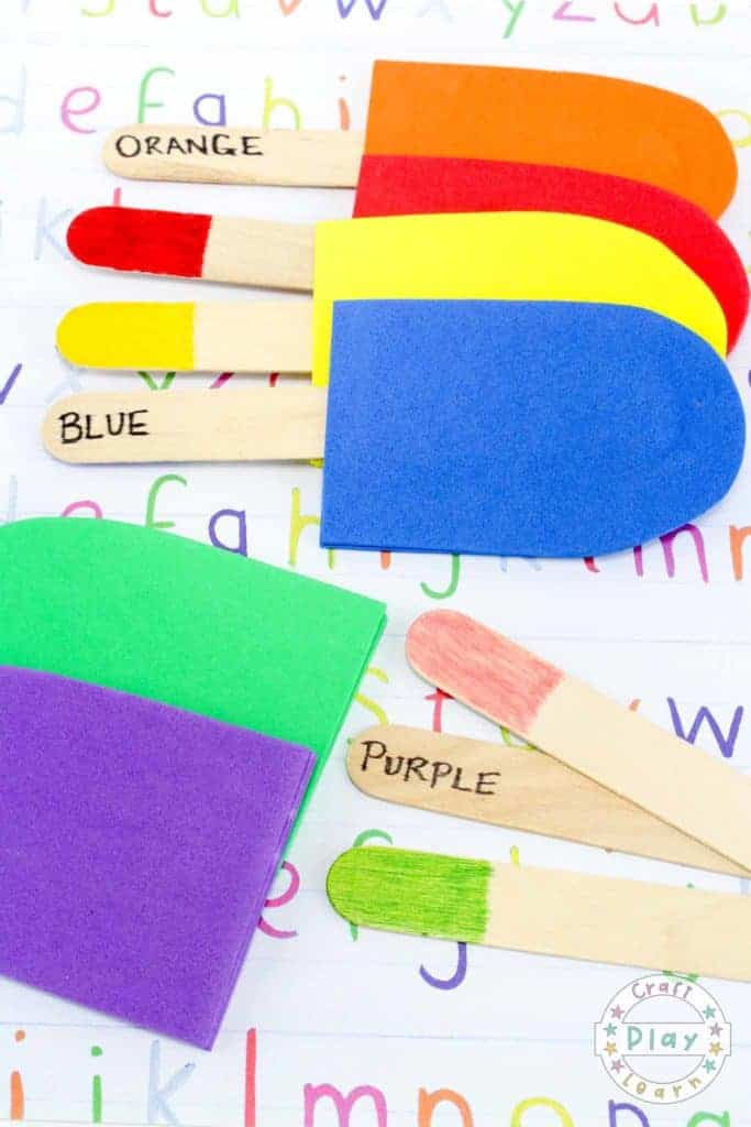 Color Matching Popsicles Craft