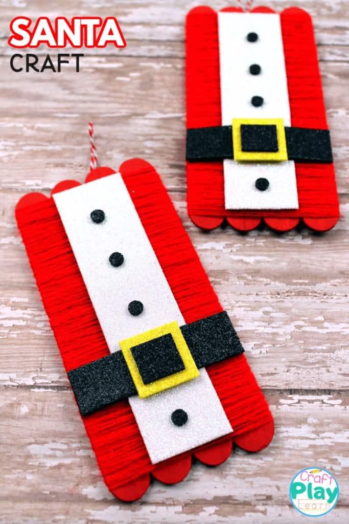 easy santa craft christmas decoration