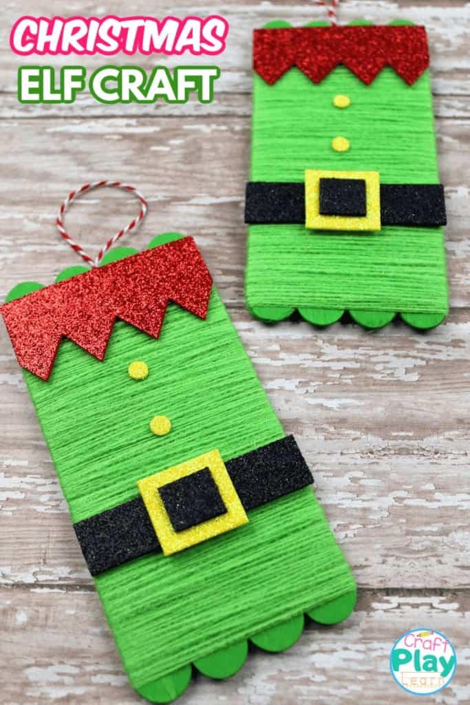 christmas elf craft and decoration