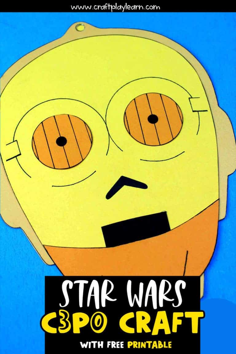 star wars c3p0 craft and cut out activity for star wars fans