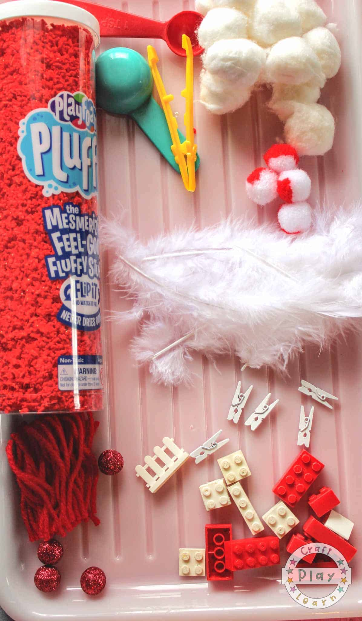 Cat In The Hat Sensory Box supplies