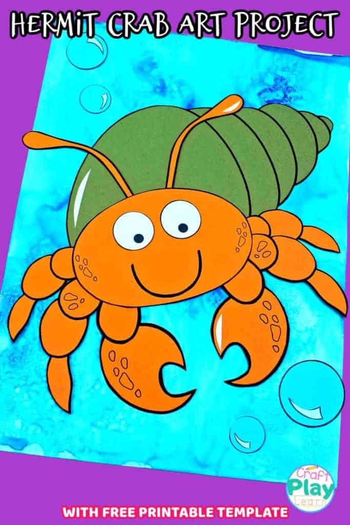 hermit crab art project