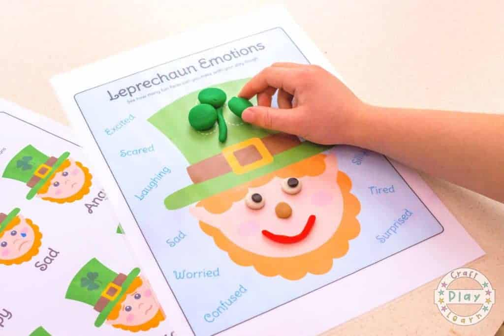 Leprechaun Printable for kids if you're happy and you know it