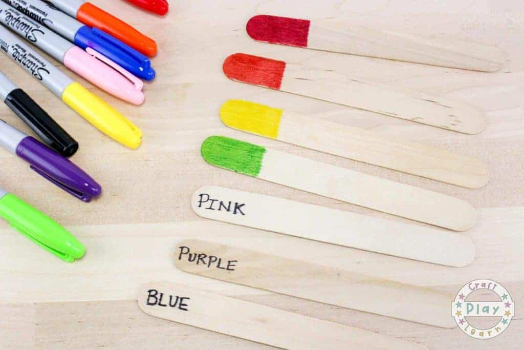 popsicle stick color matching game