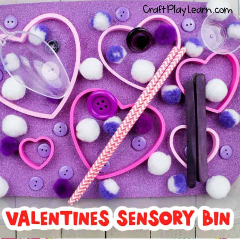 valentines day sensory activity for preschool kids