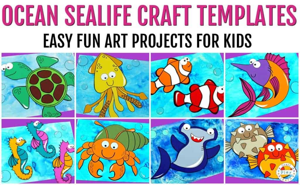 sealife craft templates for kids