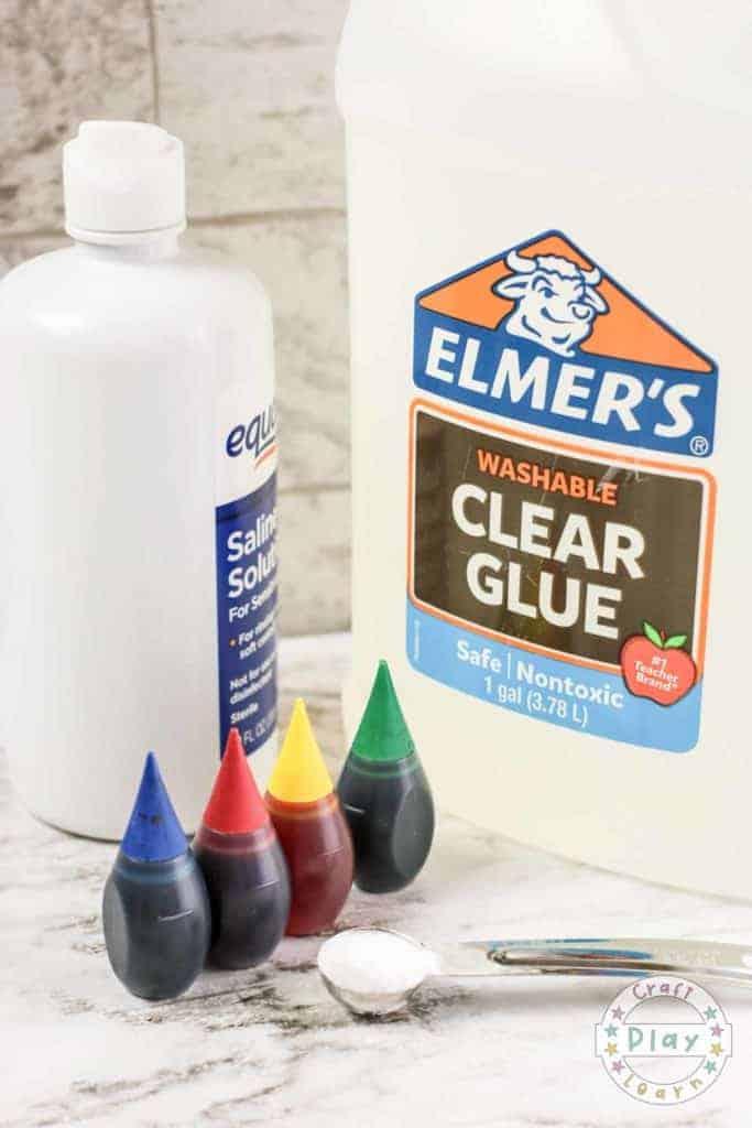Rainbow slime ingredients