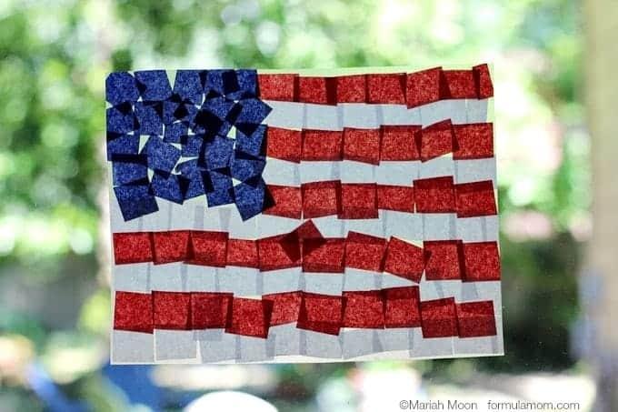 american flag suncatcher