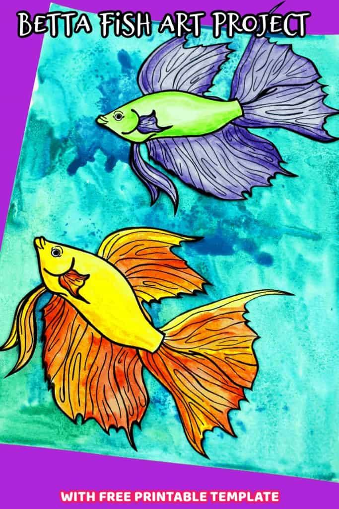 betta fish art project