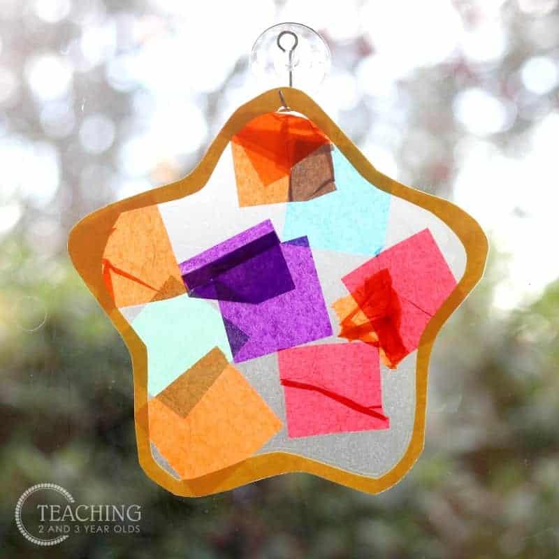 colorful star suncatcher