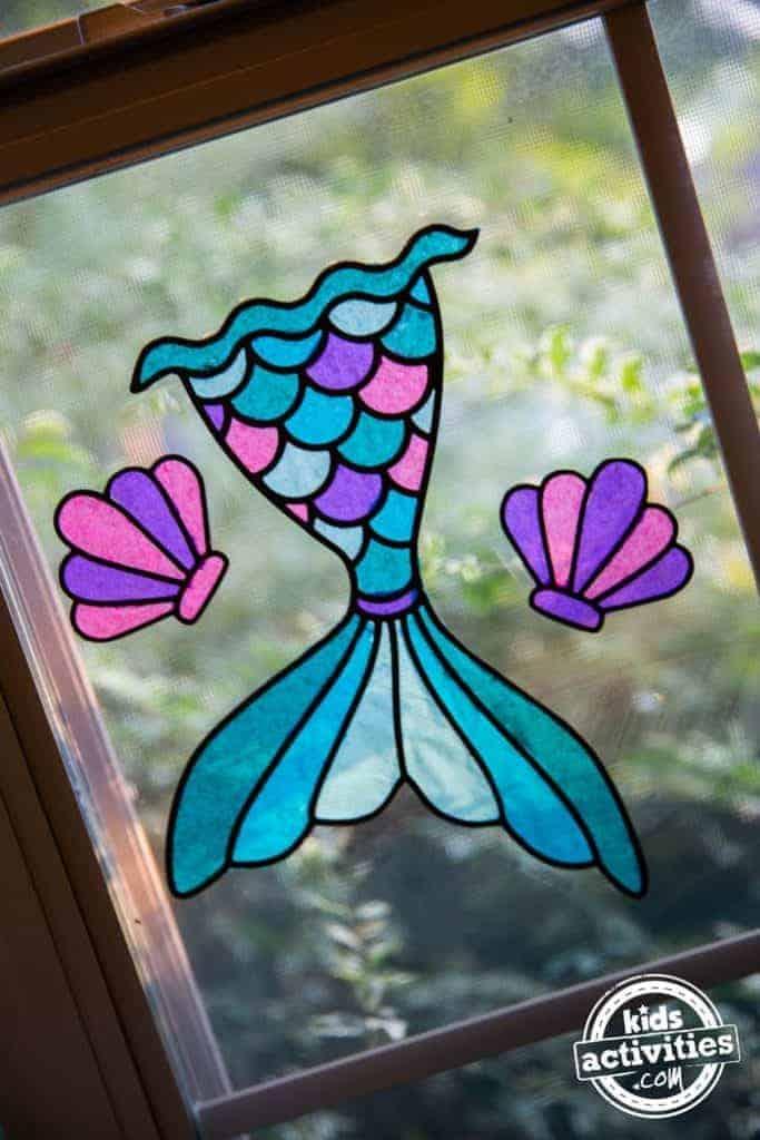 mermaid tail suncatcher