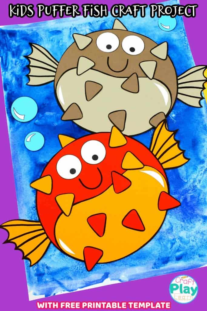 kids puffer fish craft project