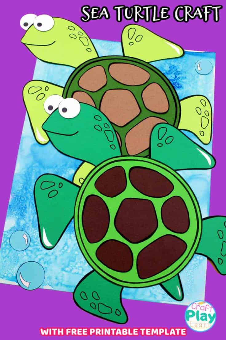 sea turtle craft for kids to make