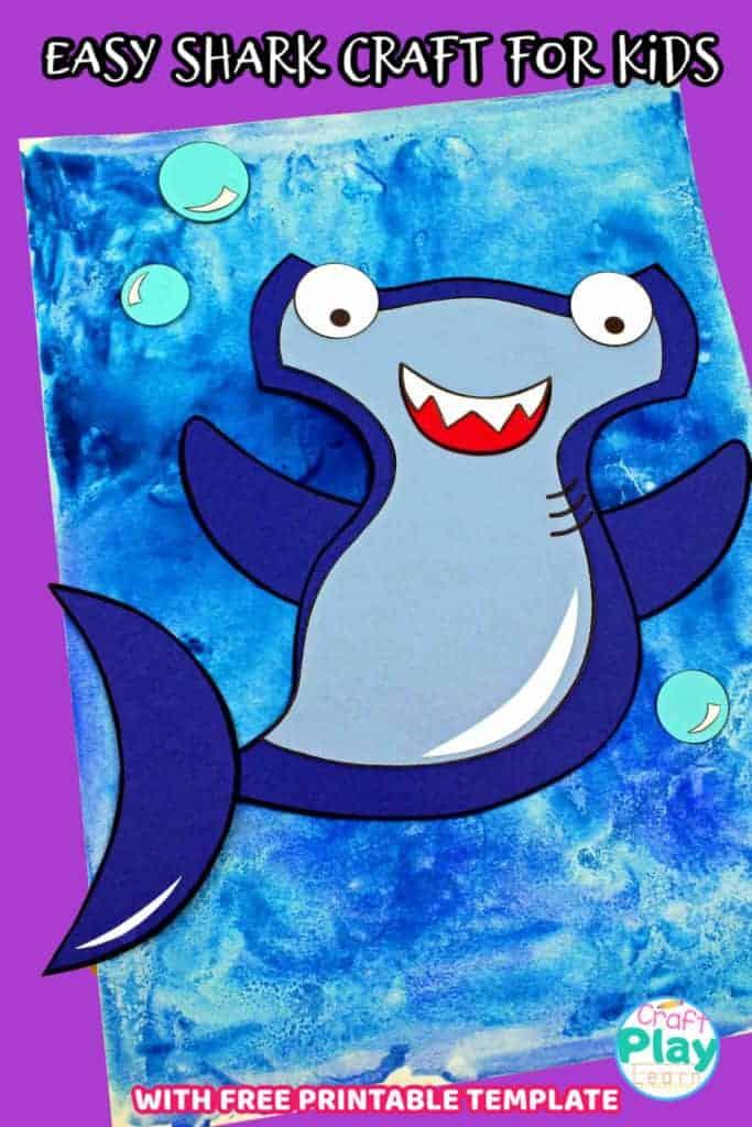 easy shark craft for kids