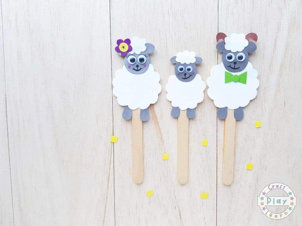 sheep puppets for kids to make