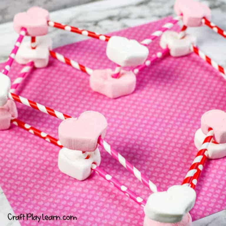 Valentine's Day STEM Activities 3 dimensional heart
