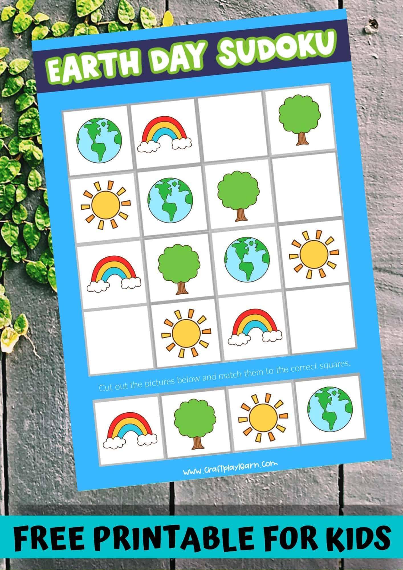 earth day sudoku for children