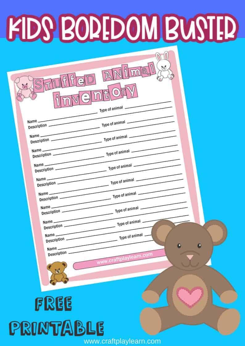 Kids teddy bear names printable